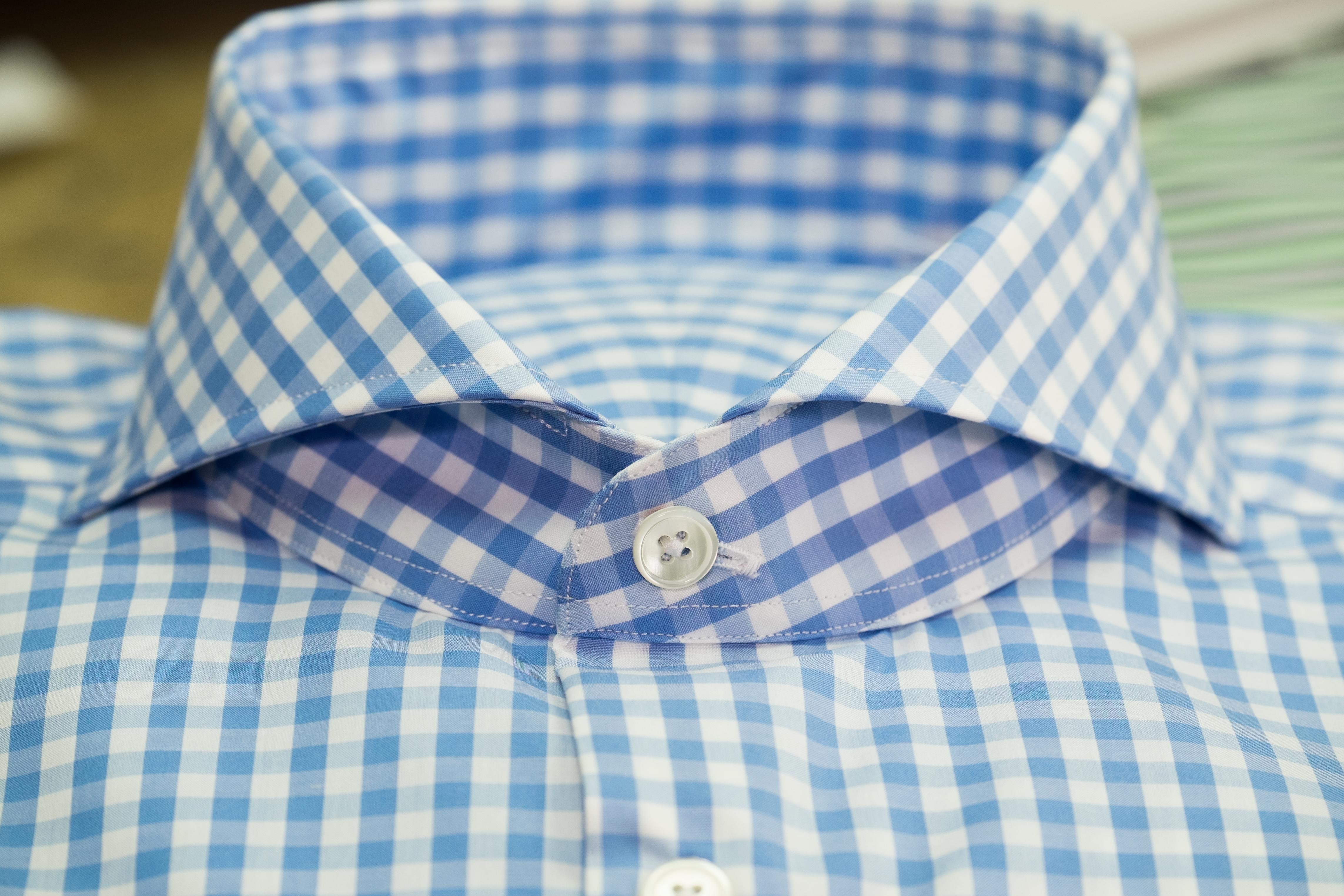 Blue BIG Check Collar (1)