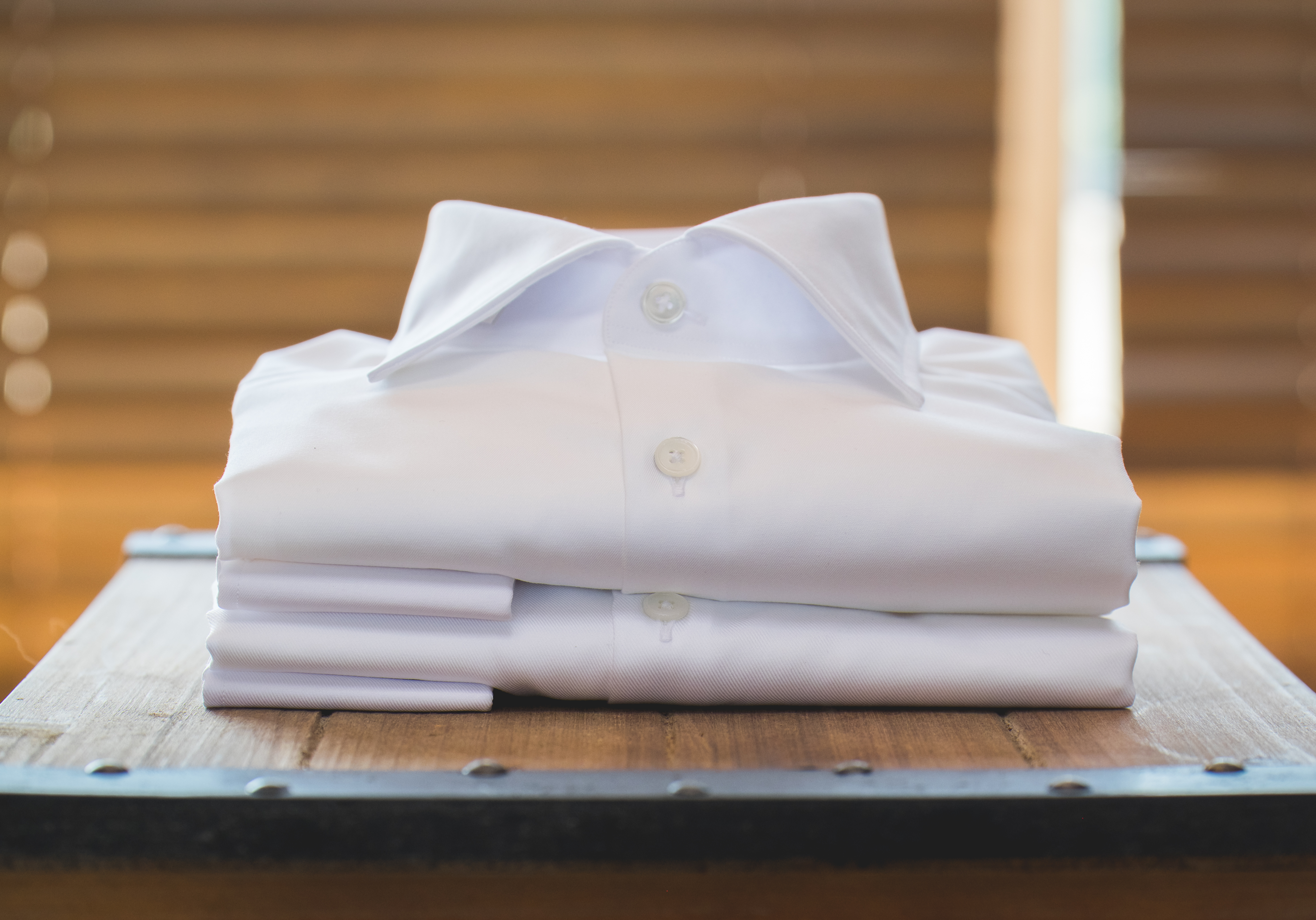 White Shirts on Crate