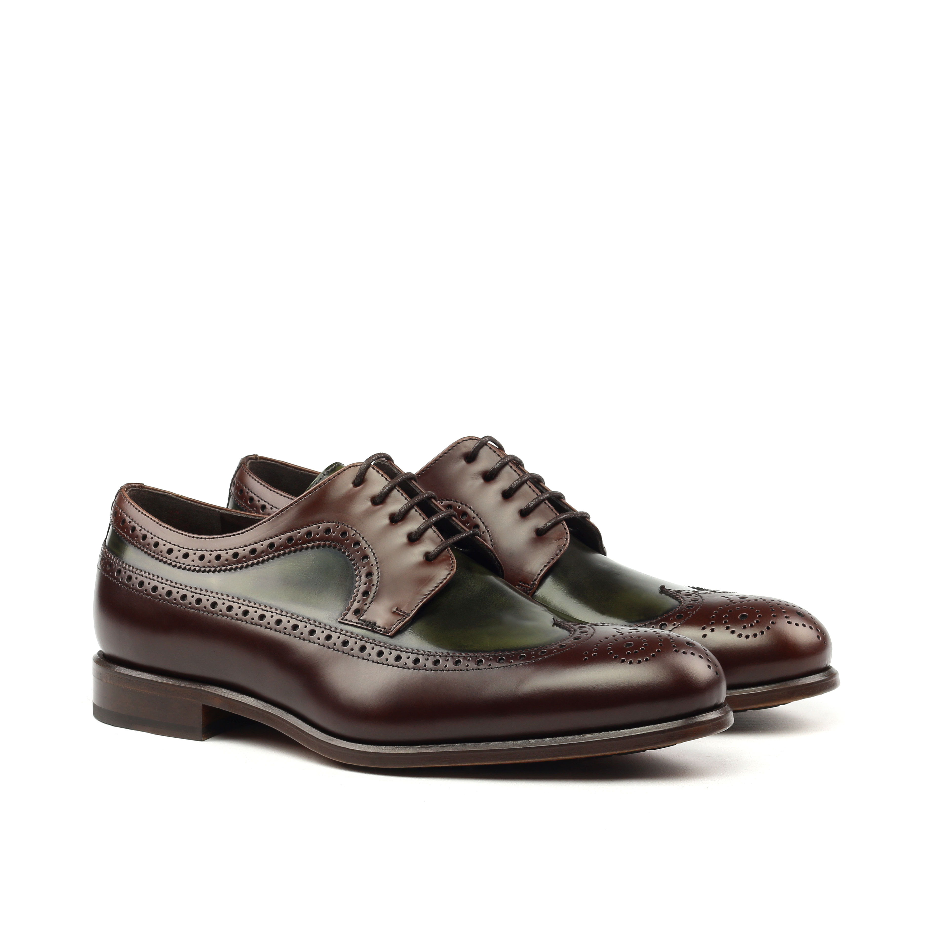 Longwing – Oxblood and Green Polished Calf-Ang5