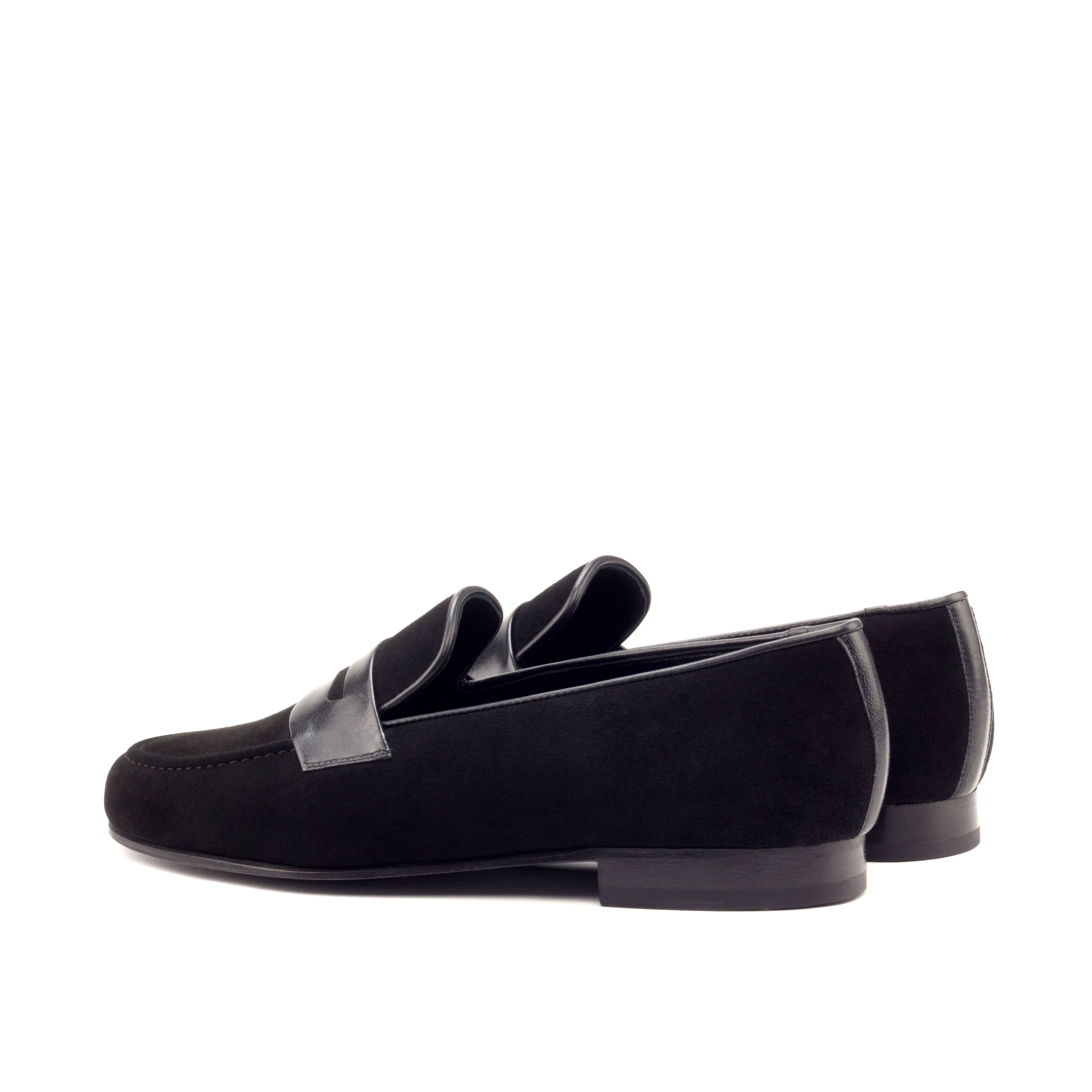 Wellington Albert Mask – Black Suede-Black Leather-Ang6