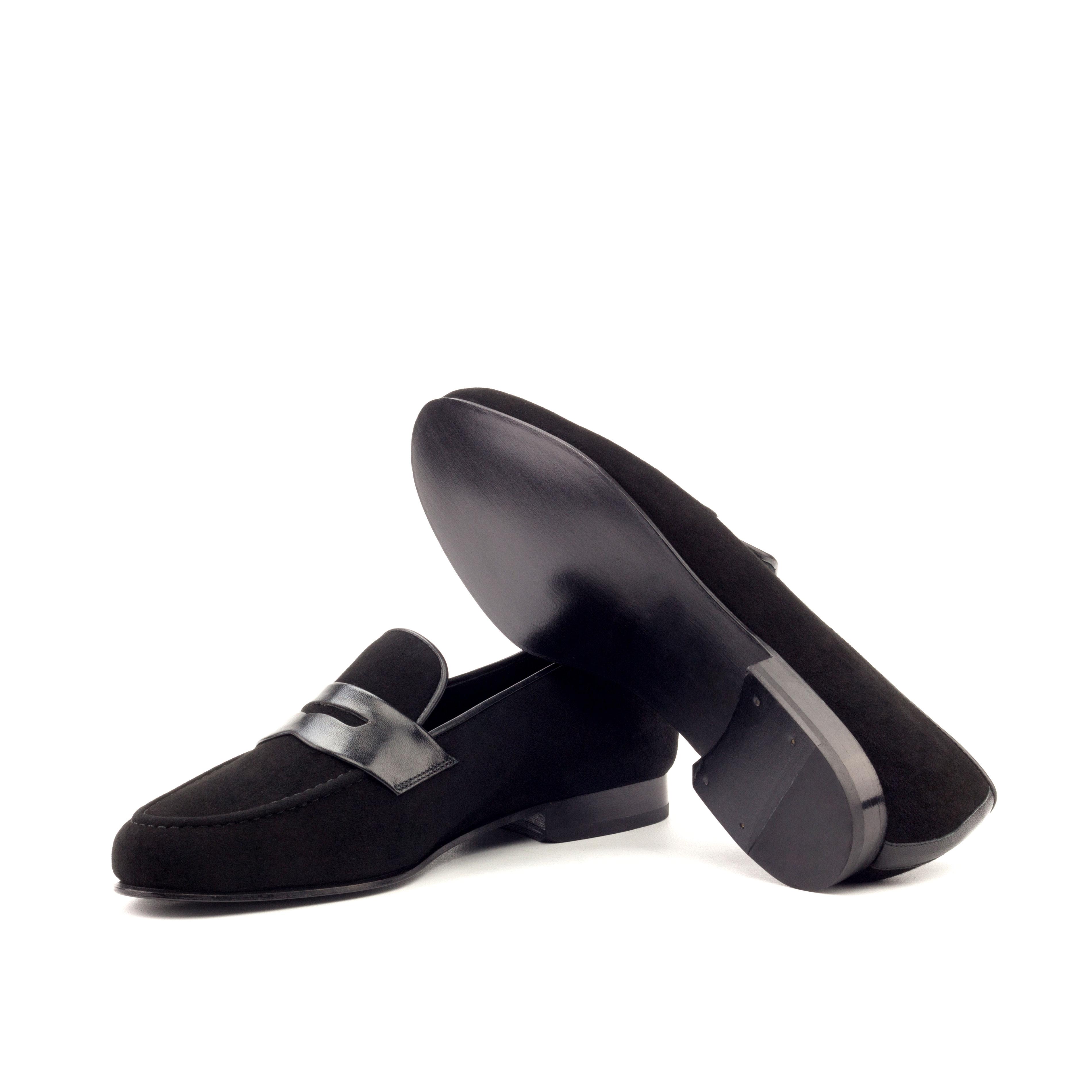 Wellington Albert Mask – Black Suede-Black Leather-Ang9